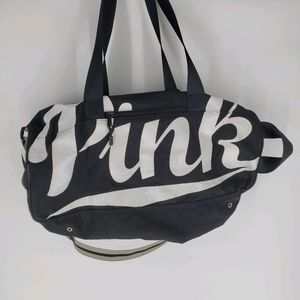 Victoria's Secret PINK black duffle bag tote big